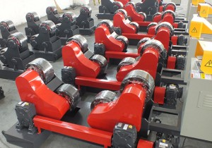 Row of Tank Turning Rolls
