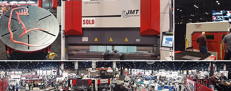 The JMT Booth on Day 3 of FABTECH 2015