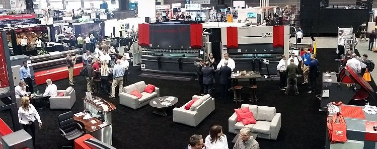 View from the JMT Booth at FABTECH 2015