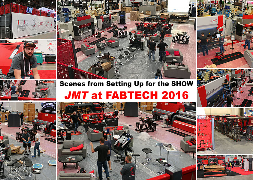 JMT Setting Up for FABTECH 2016