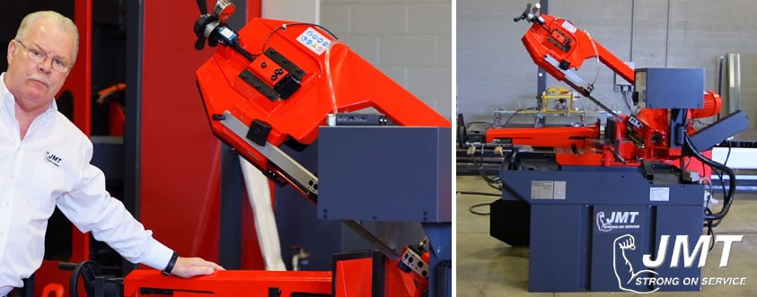 metal cutting double miter band saw